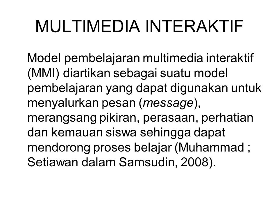 MULTIMEDIA INTERAKTIF
