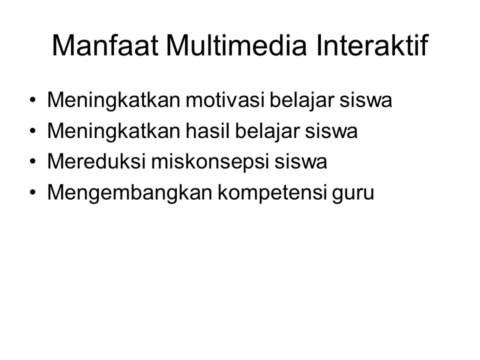 Manfaat Multimedia Interaktif