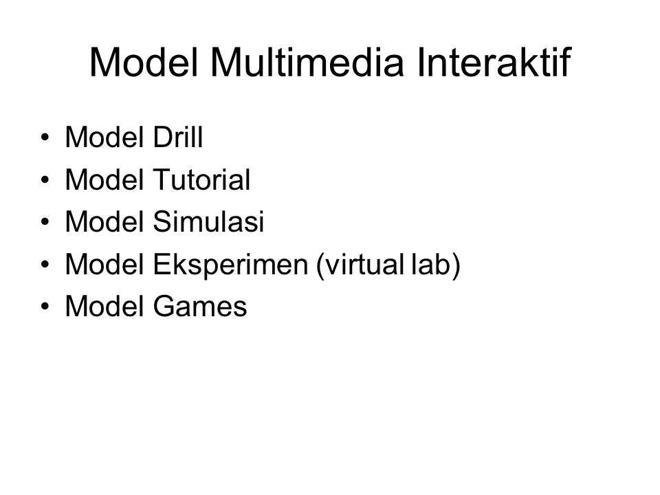 Model Multimedia Interaktif