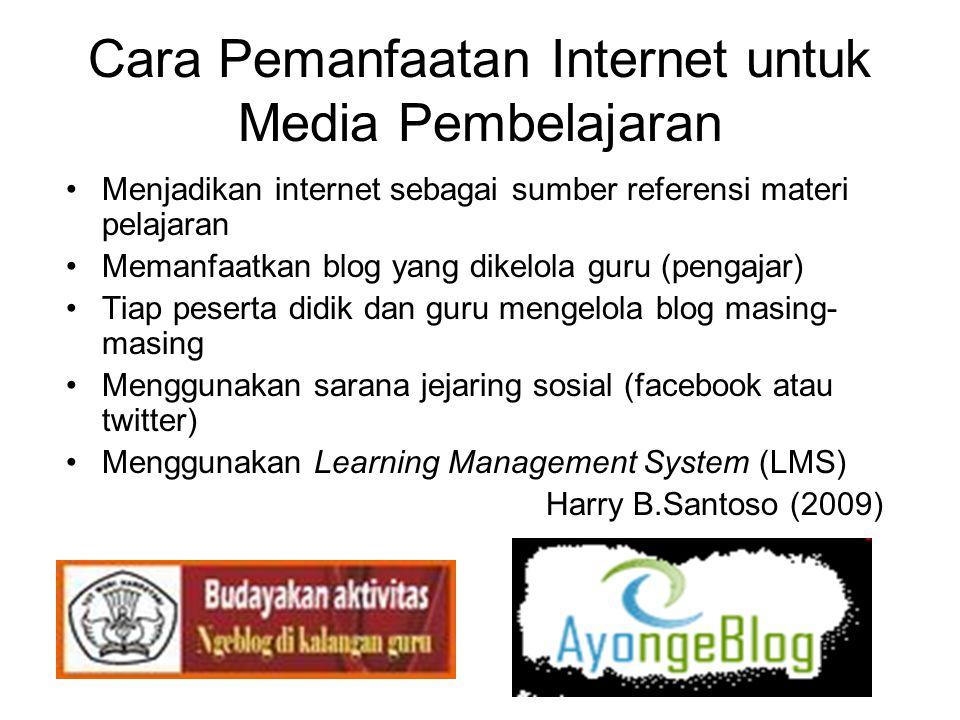 Cara Pemanfaatan Internet untuk Media Pembelajaran