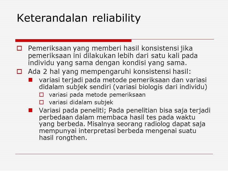 Keterandalan reliability