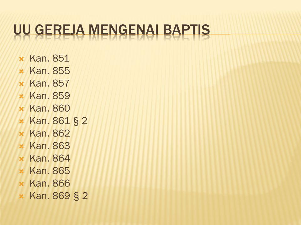 UU Gereja Mengenai Baptis