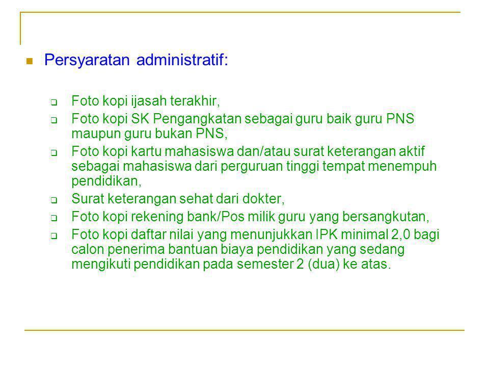 Persyaratan administratif: