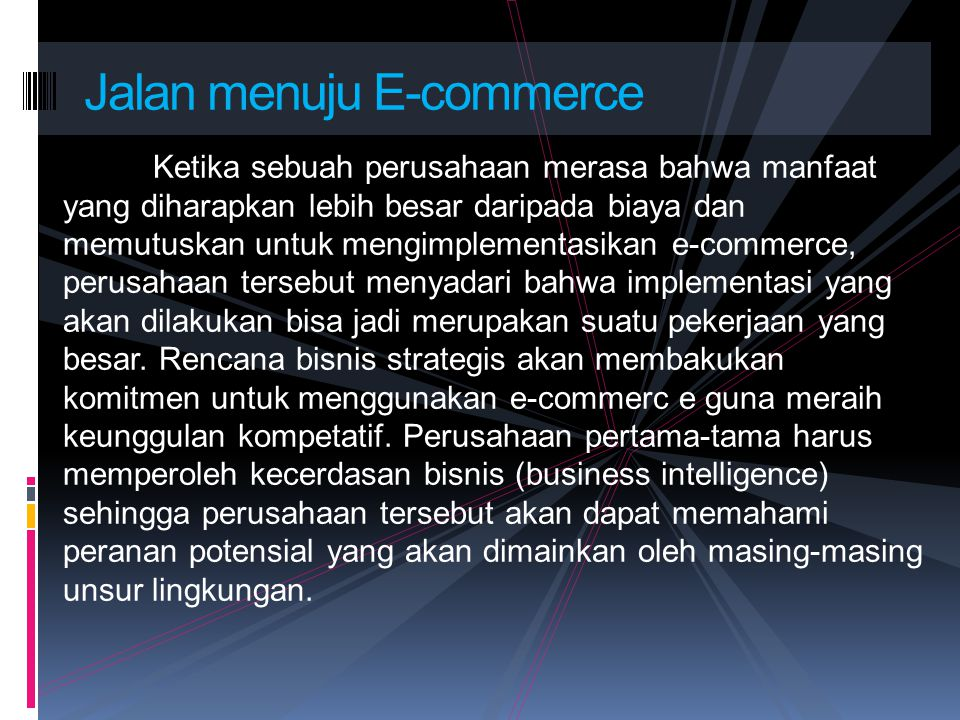 Jalan menuju E-commerce