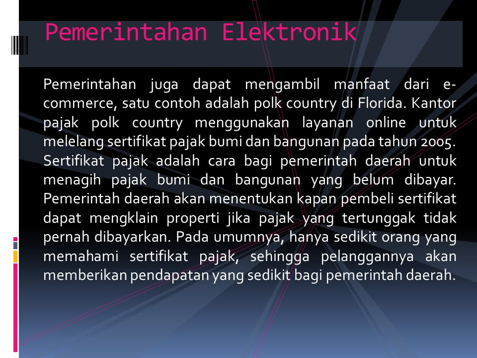 Pemerintahan Elektronik