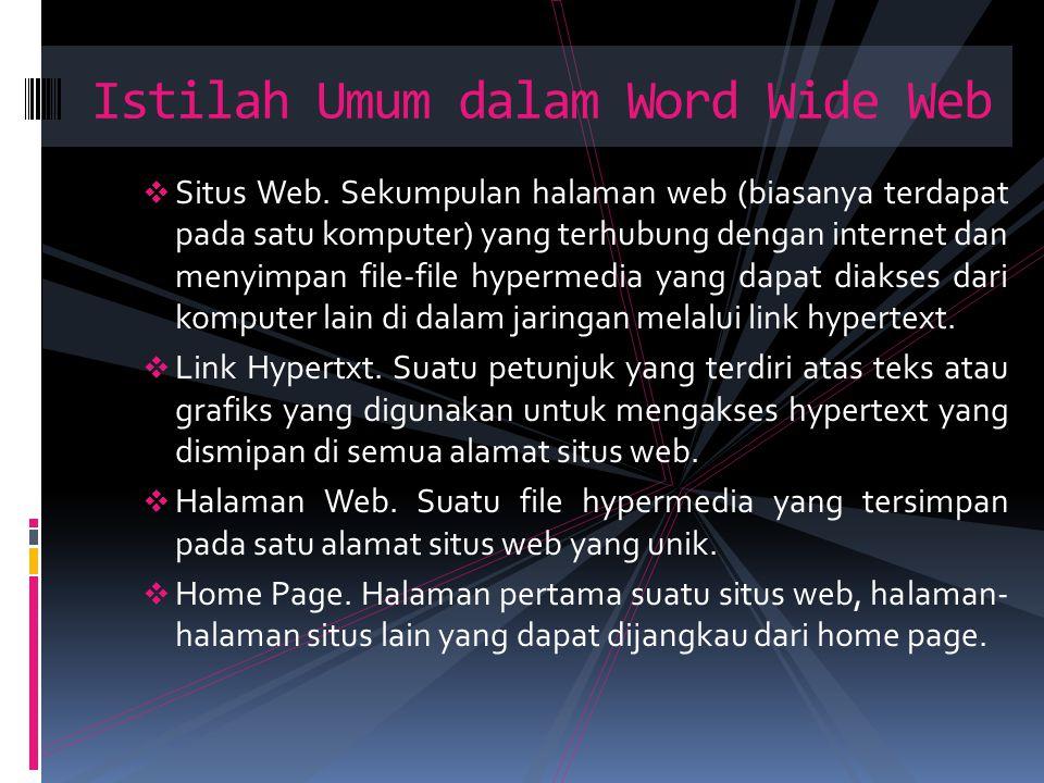 Istilah Umum dalam Word Wide Web
