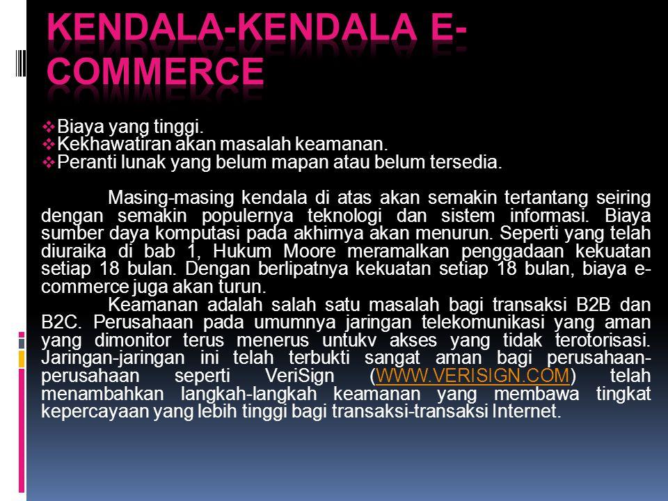 Kendala-kendala E-Commerce