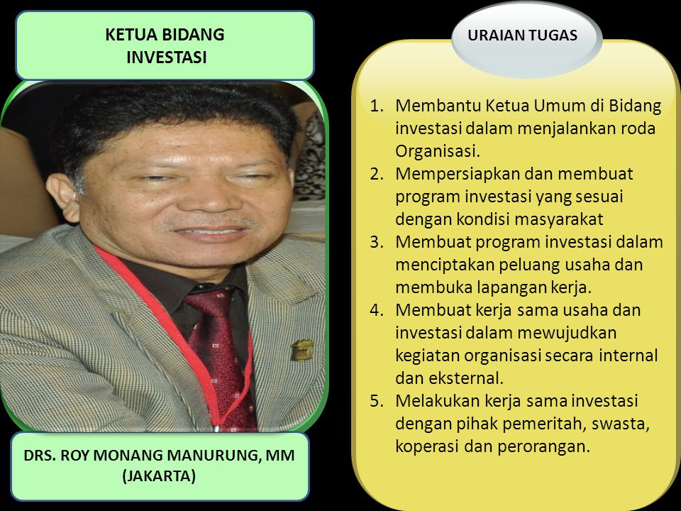 DRS. ROY MONANG MANURUNG, MM (JAKARTA)