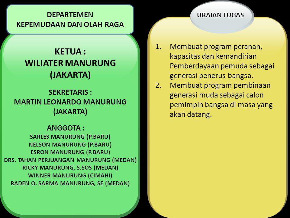 WILIATER MANURUNG (JAKARTA) MARTIN LEONARDO MANURUNG (JAKARTA)