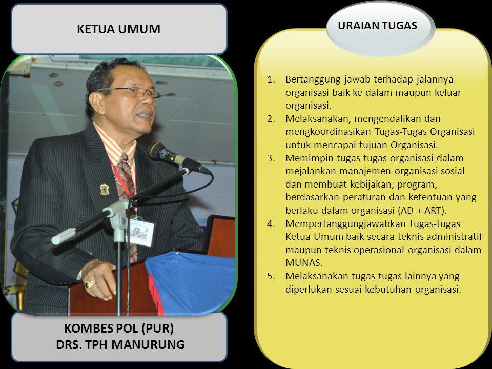 KETUA UMUM KOMBES POL (PUR) DRS. TPH MANURUNG