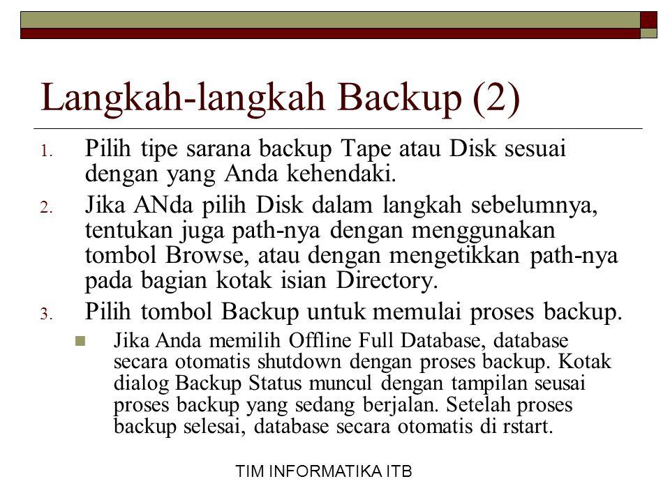 Langkah-langkah Backup (2)