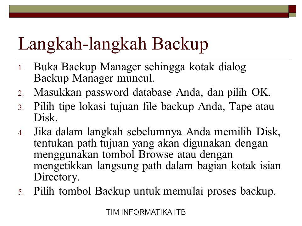 Langkah-langkah Backup
