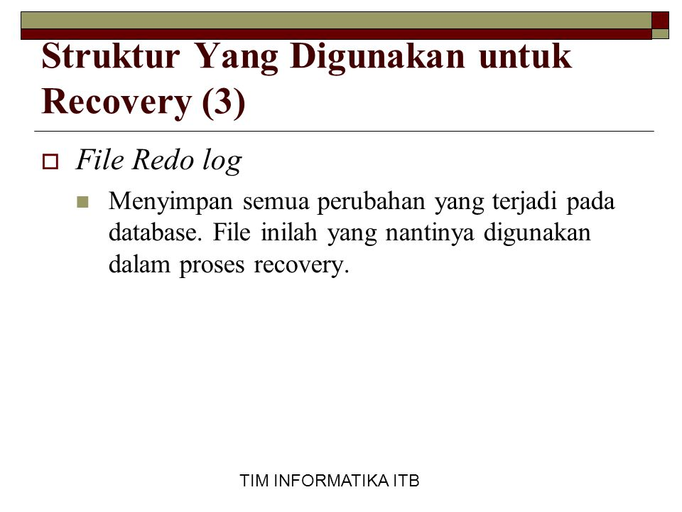 Struktur Yang Digunakan untuk Recovery (3)