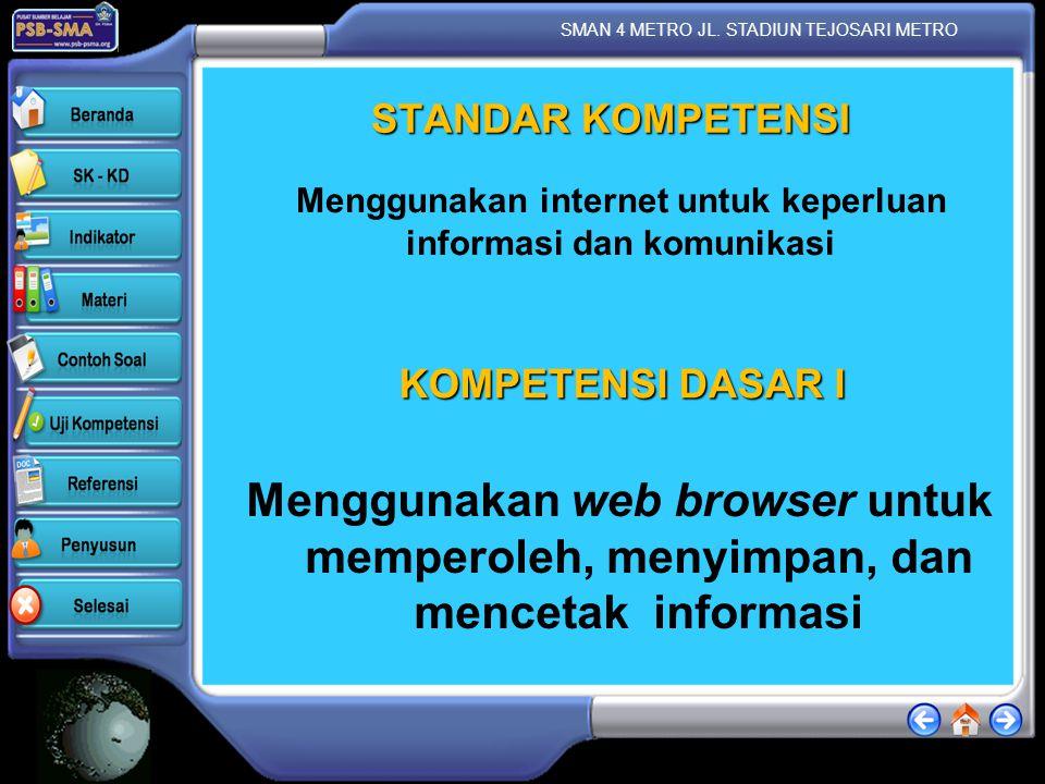 Menggunakan internet untuk keperluan informasi dan komunikasi