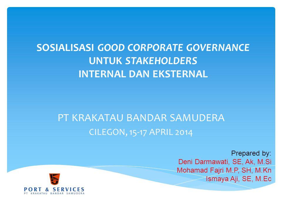 PT KRAKATAU BANDAR SAMUDERA CILEGON, 15-17 APRIL 2014