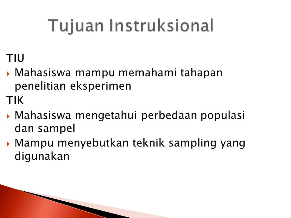 Tujuan Instruksional TIU