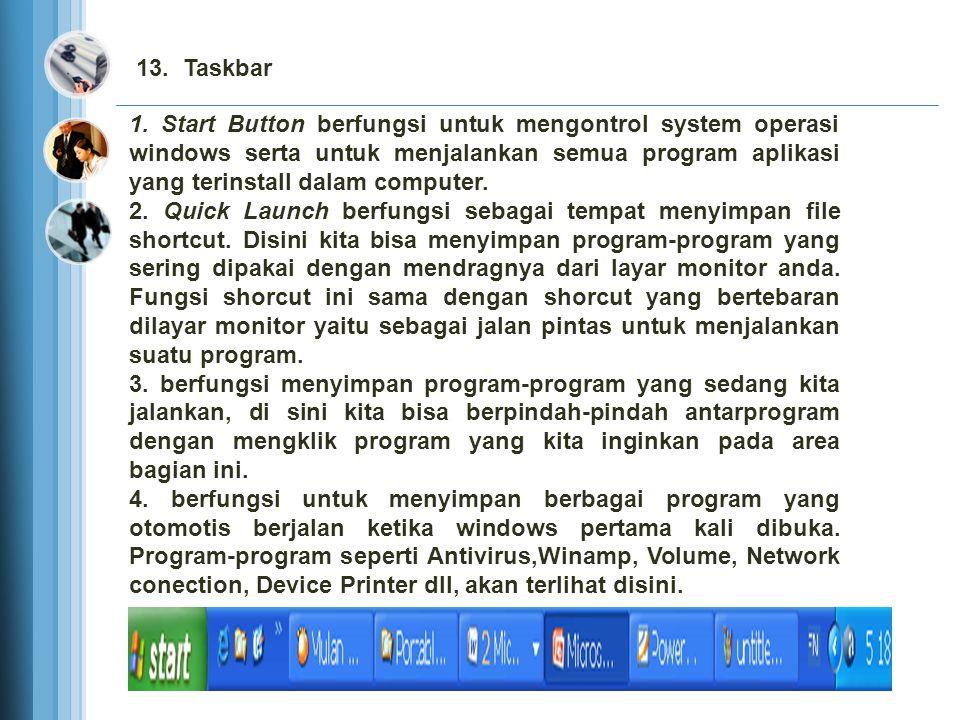 13. Taskbar