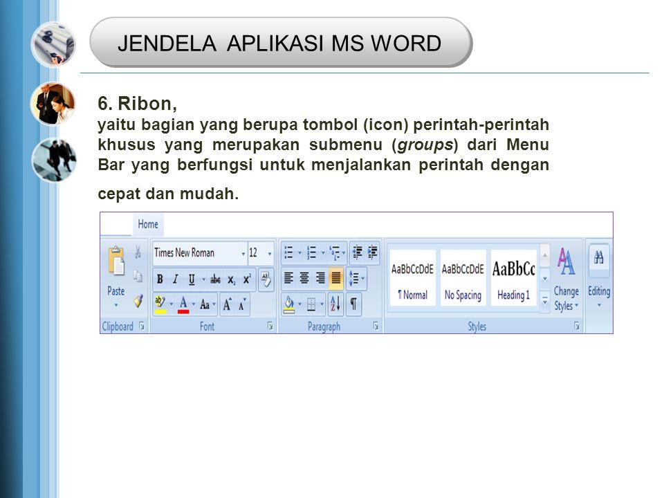 JENDELA APLIKASI MS WORD