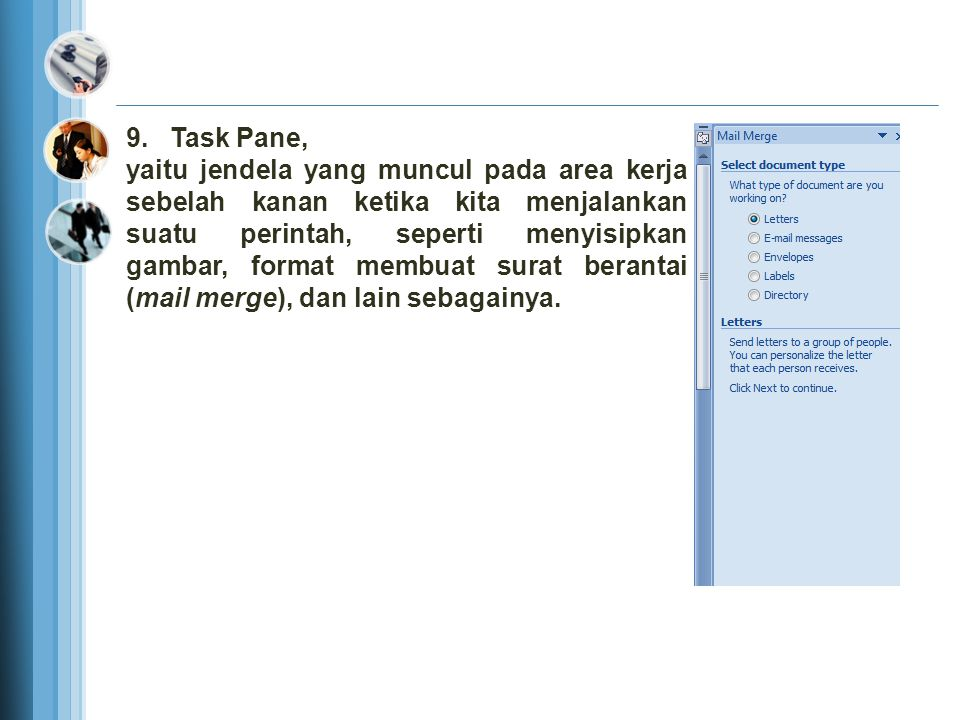 9. Task Pane,