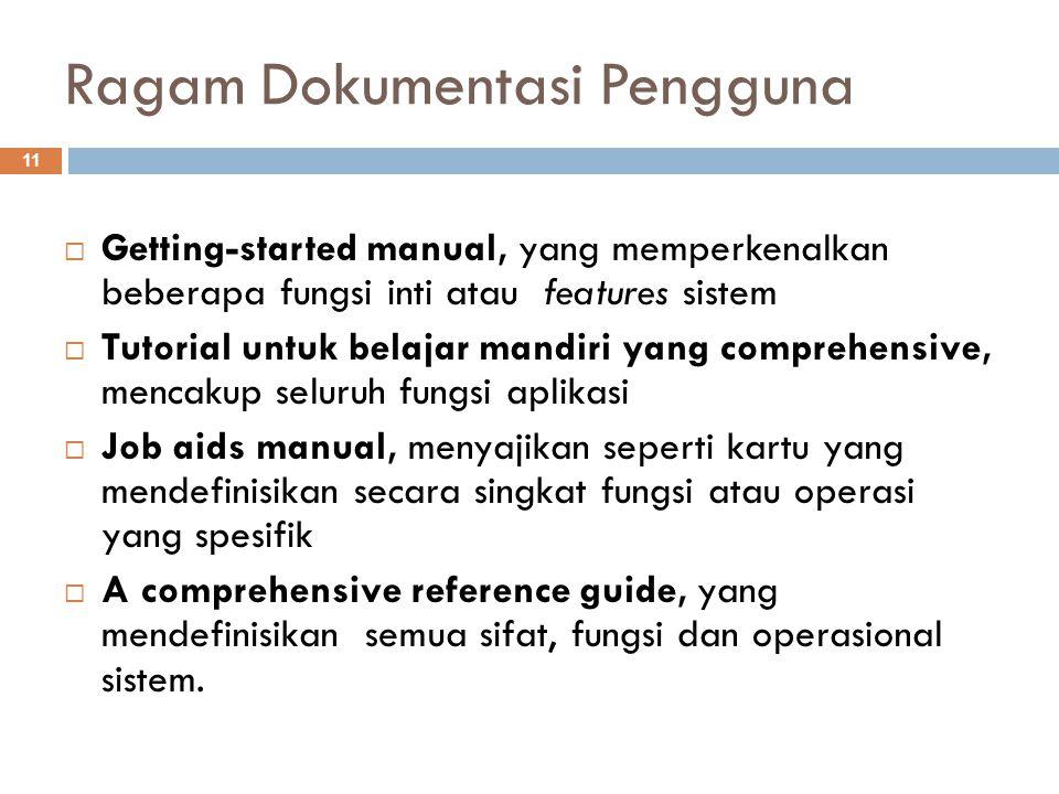 Ragam Dokumentasi Pengguna