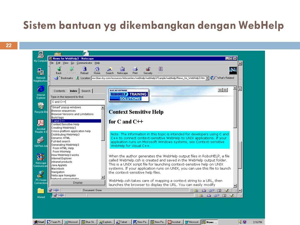 Sistem bantuan yg dikembangkan dengan WebHelp