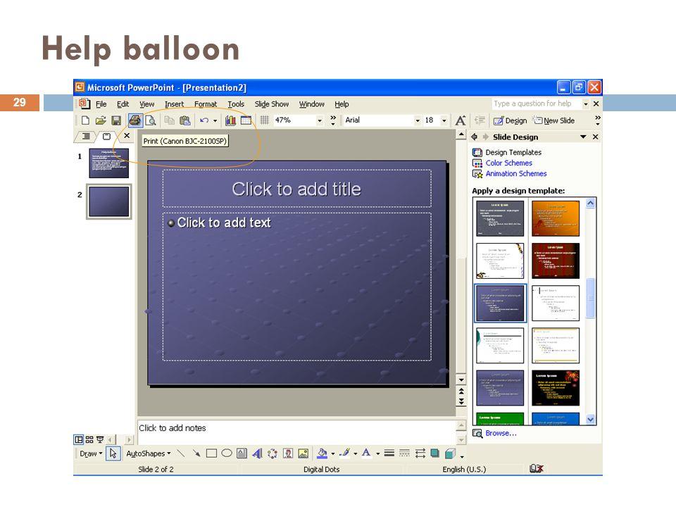 Help balloon