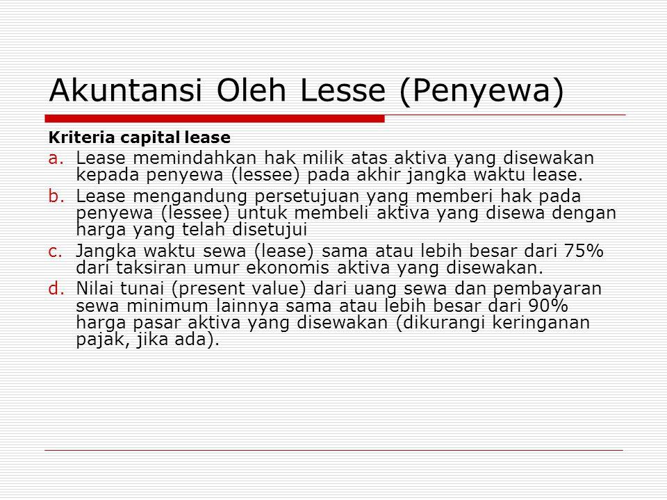 Akuntansi Oleh Lesse (Penyewa)