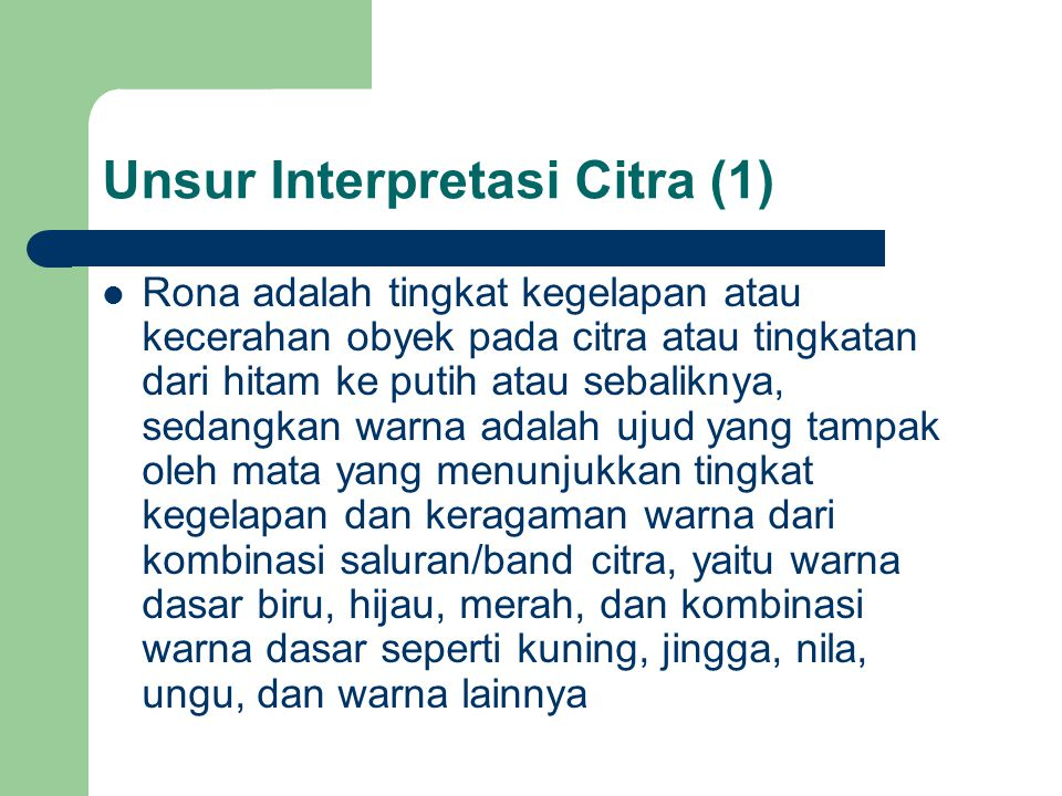 Unsur Interpretasi Citra (1)
