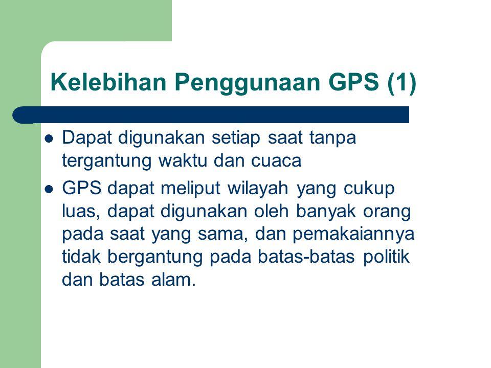 Kelebihan Penggunaan GPS (1)