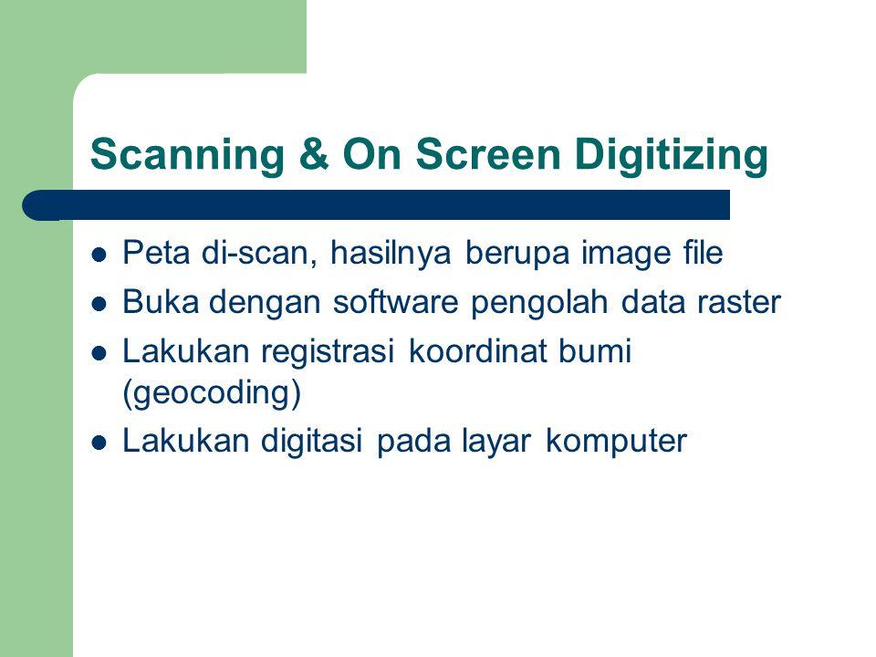 Scanning & On Screen Digitizing