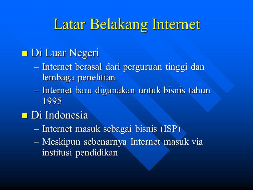 Latar Belakang Internet