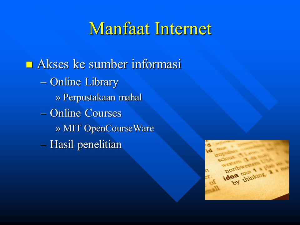 Manfaat Internet Akses ke sumber informasi Online Library