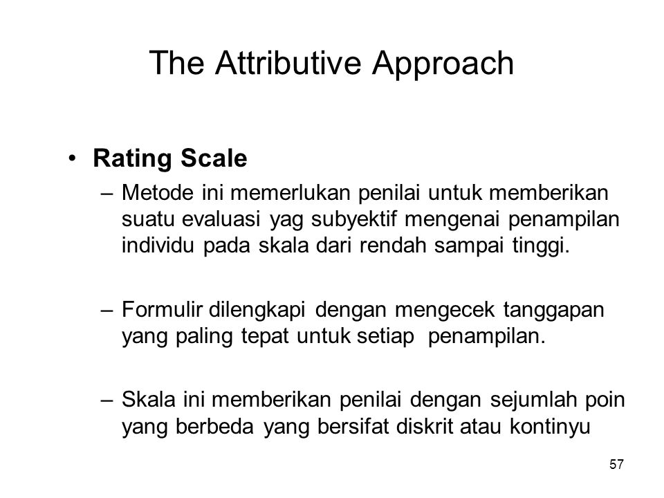 The Attributive Approach