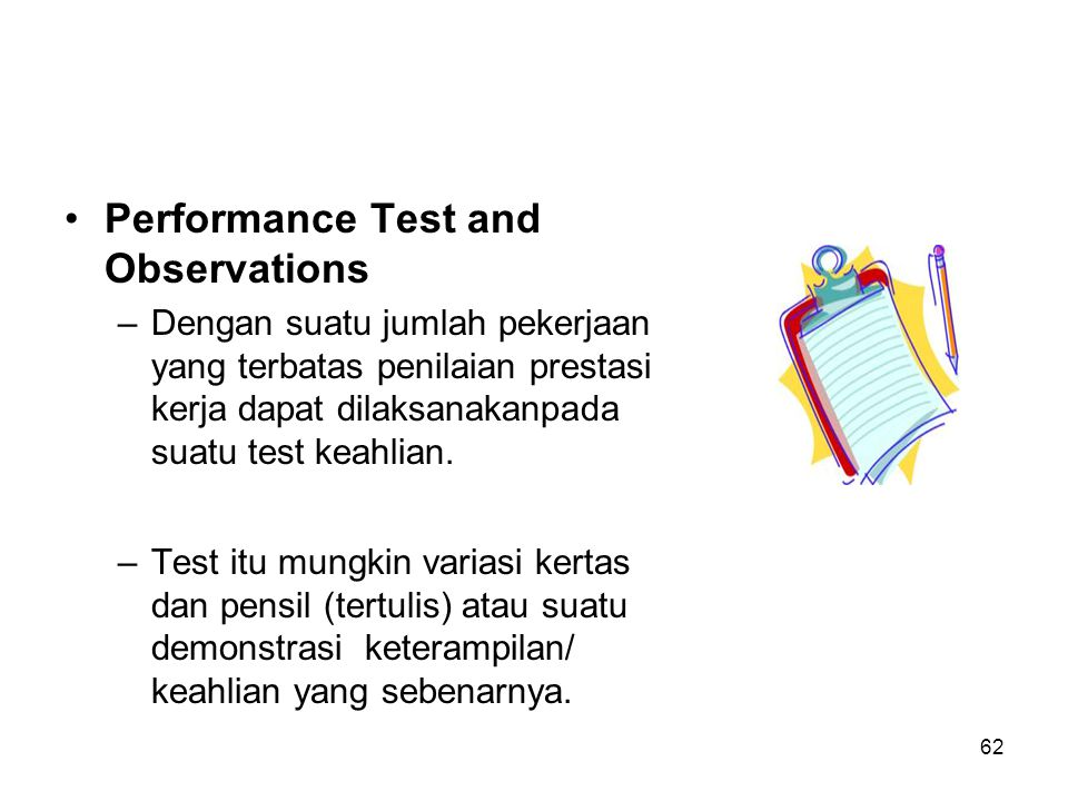 Performance Test and Observations