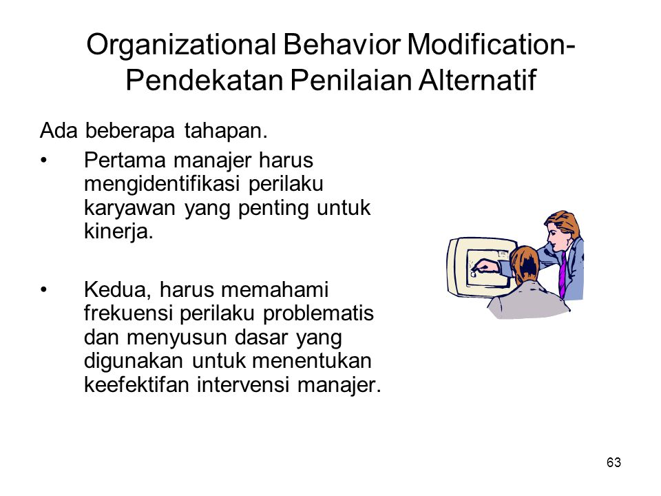 Organizational Behavior Modification- Pendekatan Penilaian Alternatif