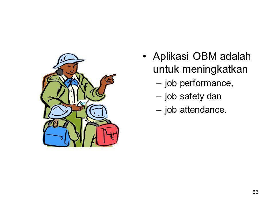 Aplikasi OBM adalah untuk meningkatkan