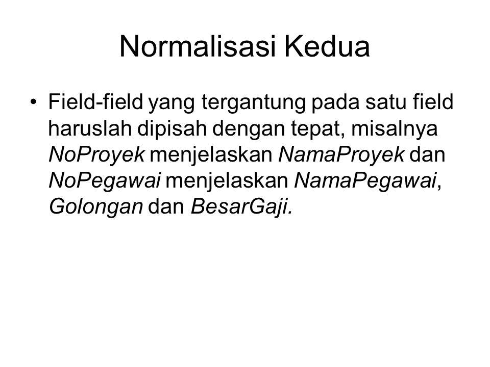 Normalisasi Kedua