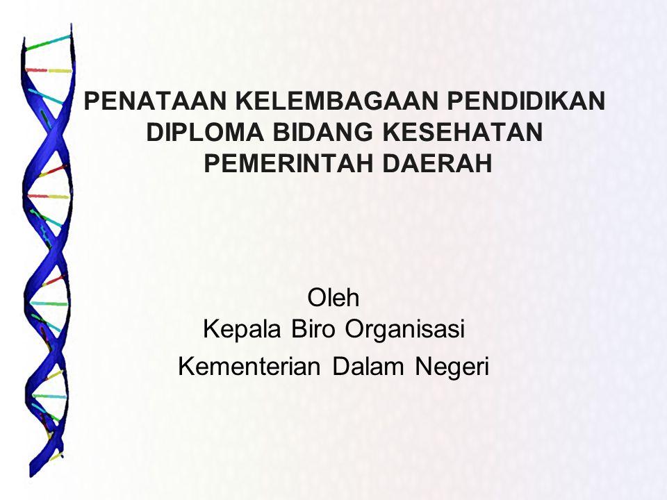 Oleh Kepala Biro Organisasi Kementerian Dalam Negeri