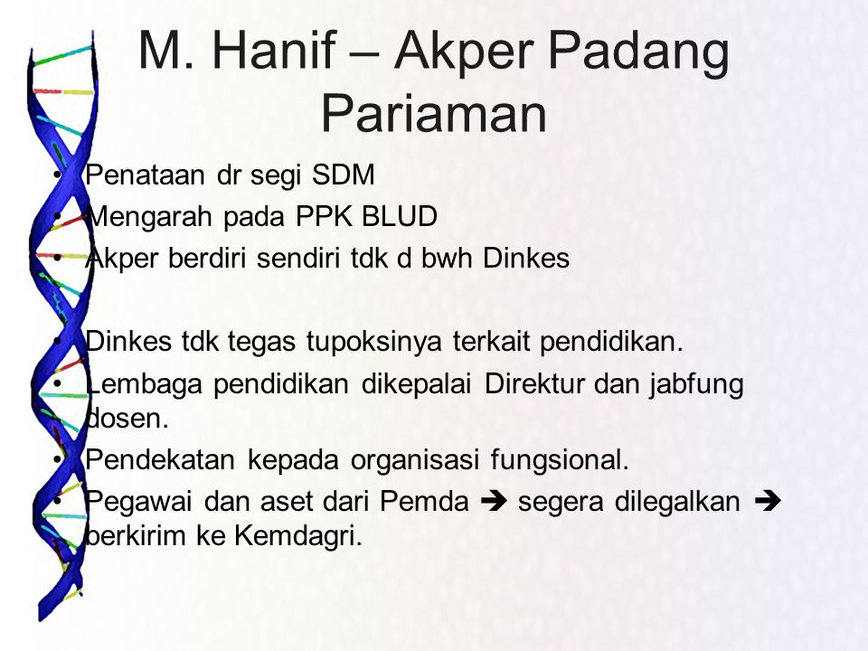 M. Hanif – Akper Padang Pariaman