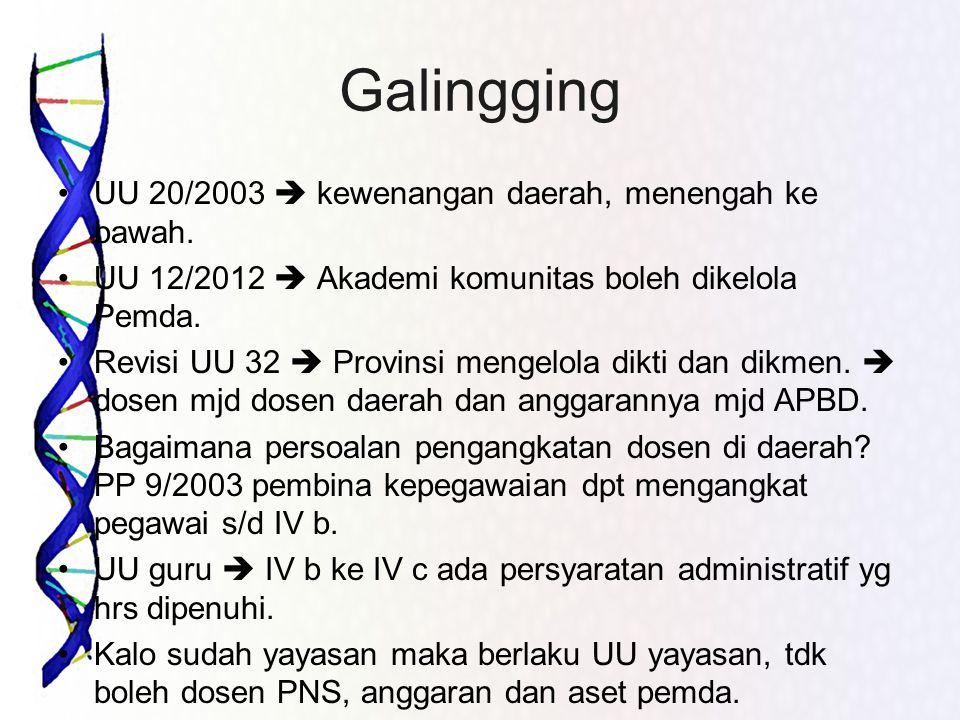 Galingging UU 20/2003  kewenangan daerah, menengah ke bawah.
