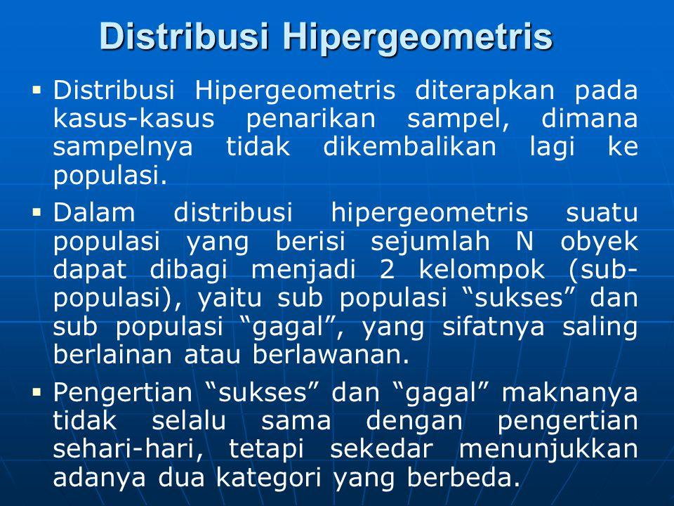 Distribusi Hipergeometris