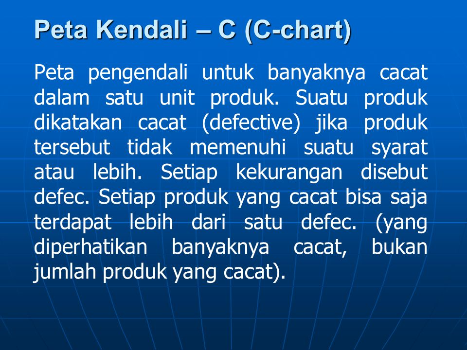 Peta Kendali – C (C-chart)