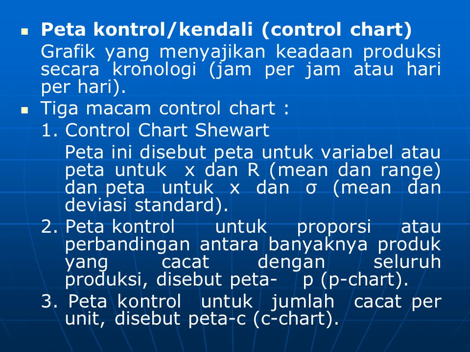 Peta kontrol/kendali (control chart)