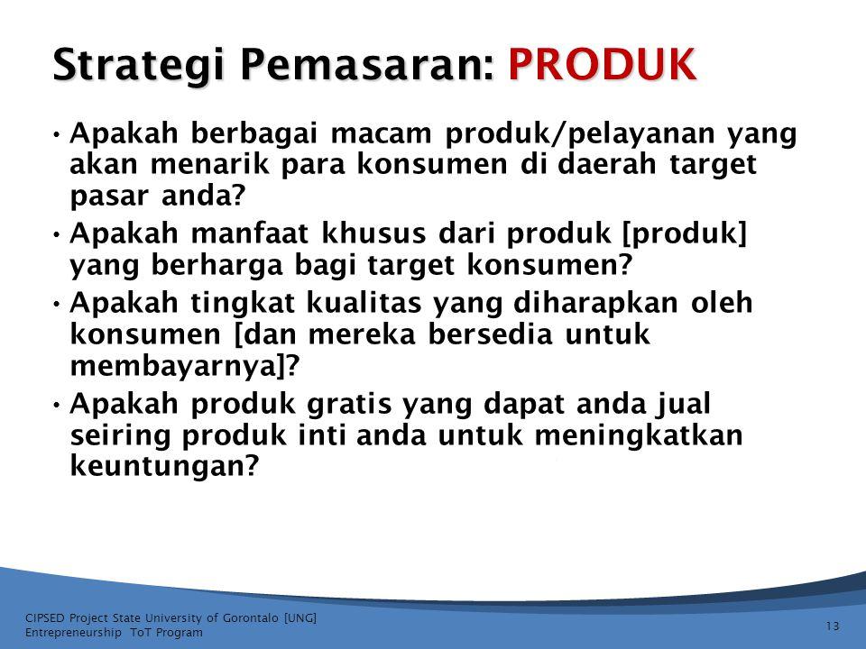 Strategi Pemasaran: PRODUK