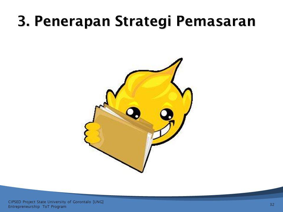 3. Penerapan Strategi Pemasaran