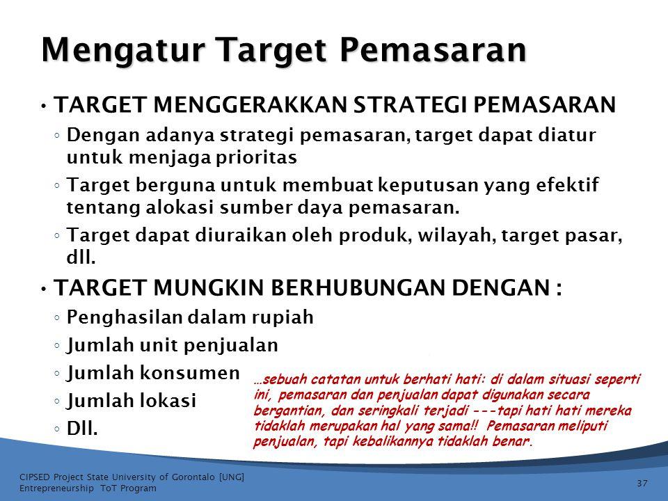 Mengatur Target Pemasaran