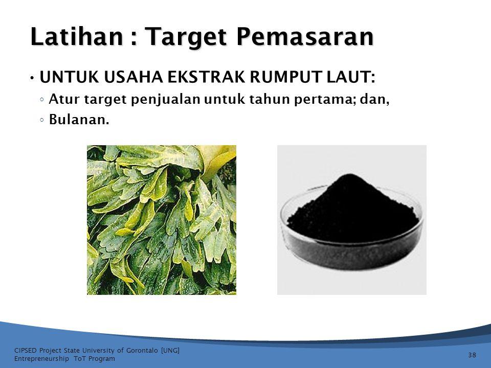 Latihan : Target Pemasaran