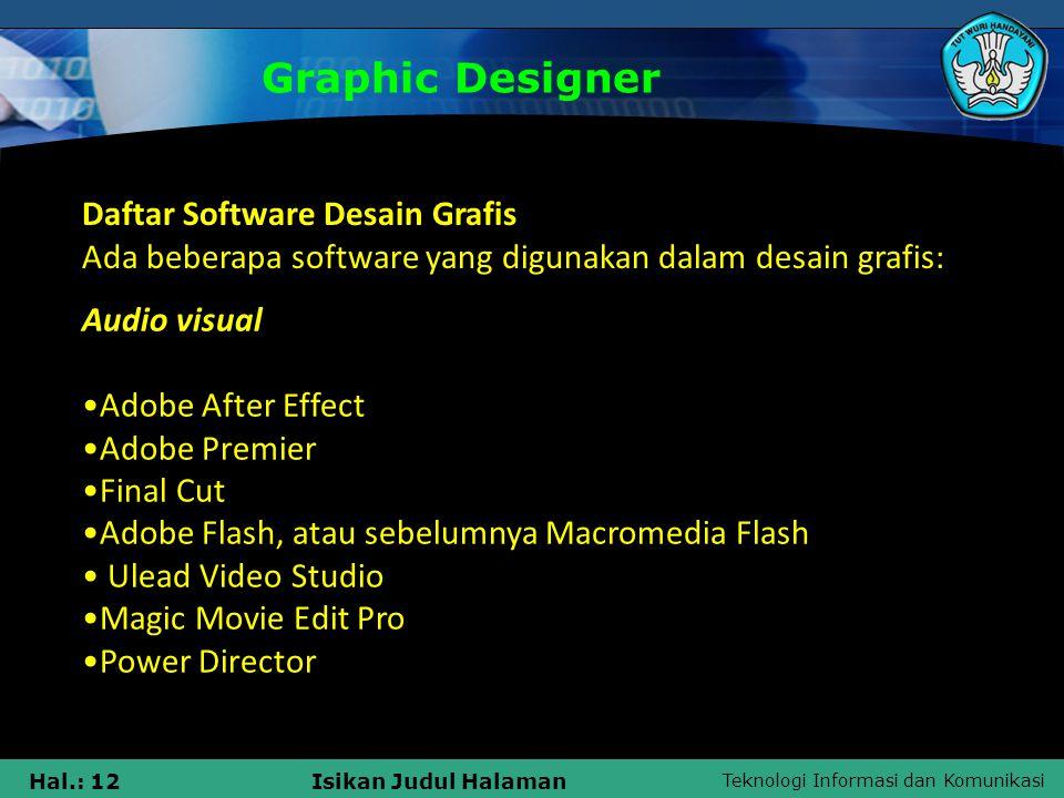 Graphic Designer Daftar Software Desain Grafis