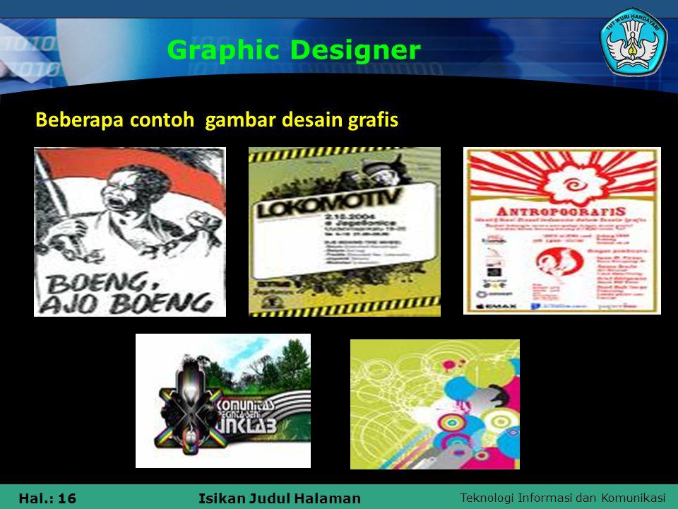 Graphic Designer Beberapa contoh gambar desain grafis