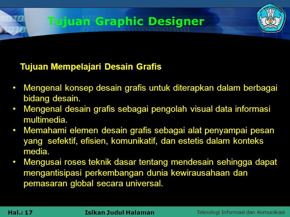 Tujuan Graphic Designer